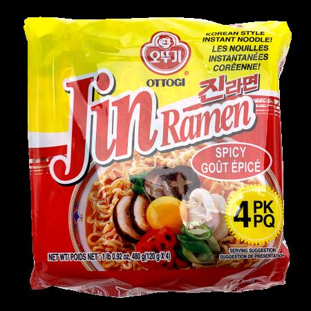 Jin Ramen Hot Flavor 4.23oz(120g) 4 Packs