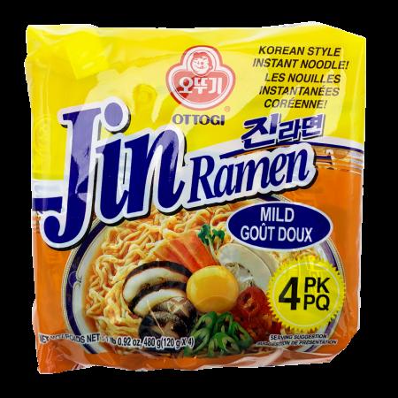 Jin Ramen Mild Flavor 4.23oz(120g) 4 Packs