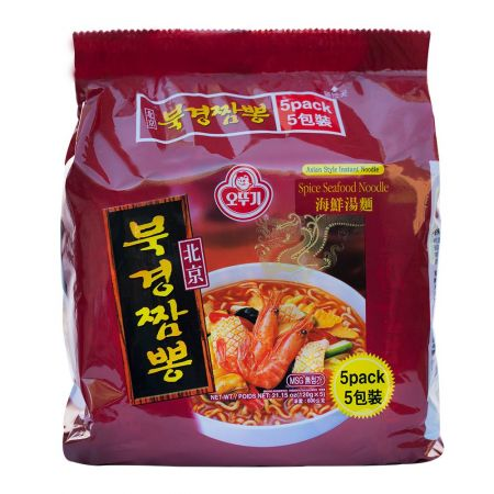 Spicy Seafood Noodle 4.23oz(120g) 5 Packs