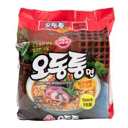 Odongtong Myon (Seafood) Spicy Flavor 4.23oz(120g) 5 Packs