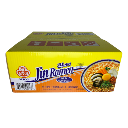 Jin Ramen Mild Flavor 4.23oz(120g) 18 Packs
