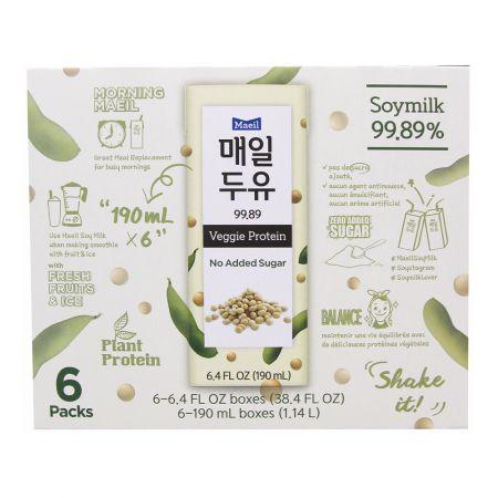 Maeil Soy Milk 99.89 6.4 fl.oz(190ml) 6 Packs