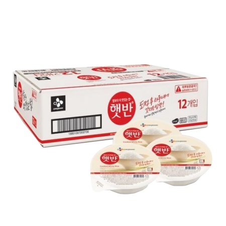 Hetbahn Cooked White Rice Box 7.4oz(210g) 12 Ea