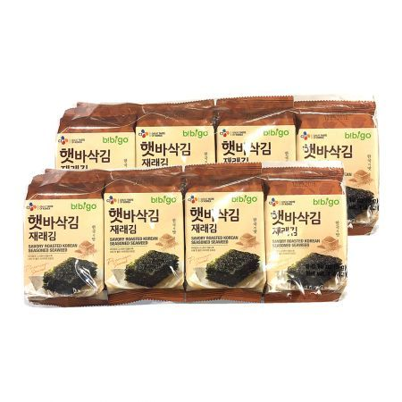 Bibigo Crispy Roasted Seaweed Snack 0.18oz(5g) 8 Packs
