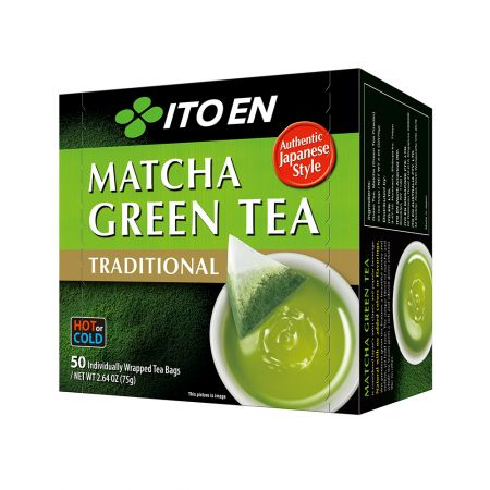 Matcha Green Tea Traditional Tea Bags 0.05oz(1.5g) 50 Tea Bags