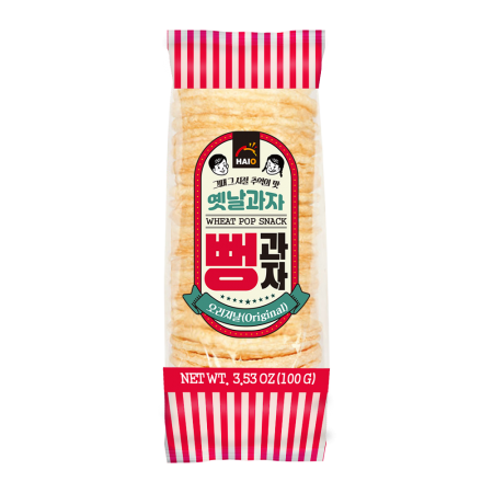 Korean Style Wheat Pop Snack Original 3.53oz(100g)