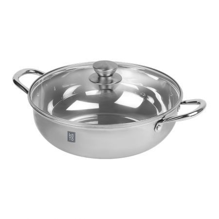 Premium Stainless Steel Shabushabu Pot (Single) 11.81in(30cm)