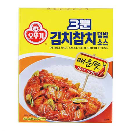 3 Minutes Spicy Sauce with Kimchi & Tuna Sauce 5.29oz(150g)