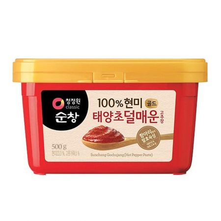 Sunchang 100% Brown Rice Red Pepper Paste Less Spicy 1.1lb(500g)