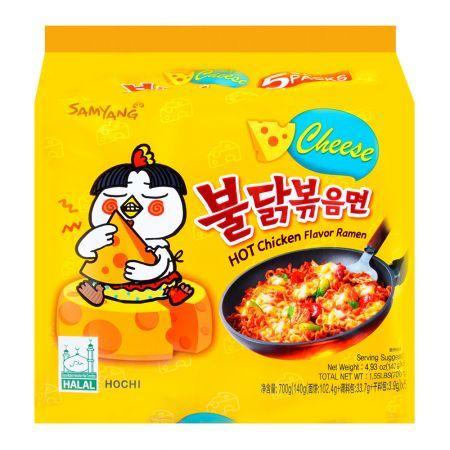 Cheese Hot Chicken Flavor Ramen 4.94oz(140g) 5 Packs