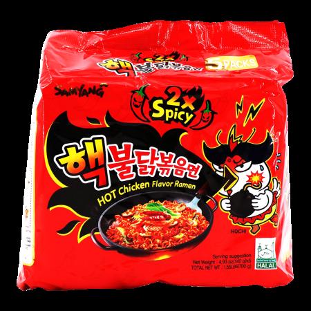 Extra Hot Chicken Flavor Ramen 4.94oz(140g) 5 Packs