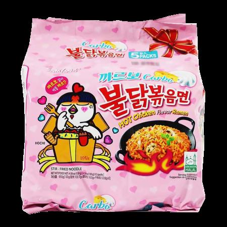 Carbo Hot Chicken Flavor Ramen 4.5oz(130g) 5 Packs