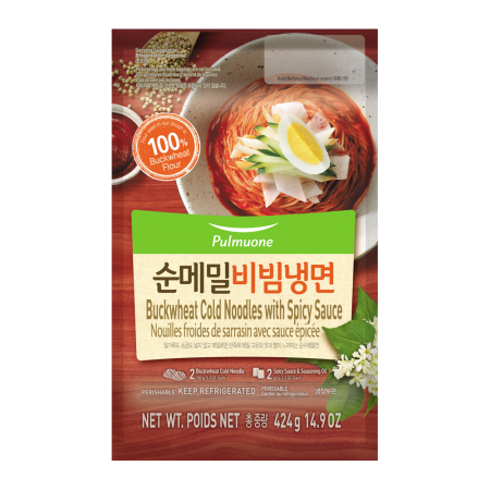 Buckwheat Cold Noodles with Spicy Sauce 14.9oz(424g)