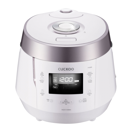 CRP-P1009S Pressure Rice Cooker 10 Cups Rose Pink + White