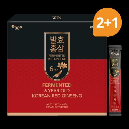 Fermented Korean Red Ginseng 15.87oz(450g) 30 packets (Set of 3)