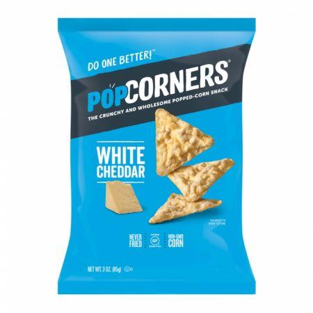 Popped Corn Chips White Cheddar 5oz(142g)