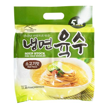 Oriental Style Soup Stock for Cold Noodles Beef Flavor 11.49oz(340ml) 6 Packs
