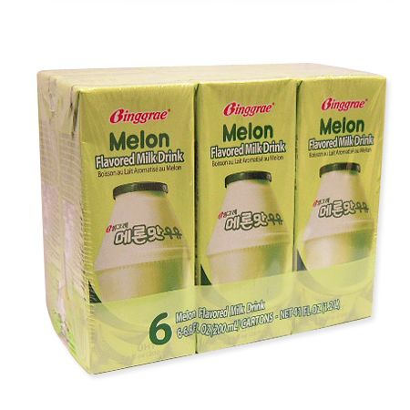 Melon Flavored Milk Drink 6.8oz(200ml) 6 Packs