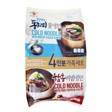 CJ Cold Noodle Set (Dongchimi and Bibim) 3.02lb(1.37kg), 씨제이 냉면 세트 (동치미 물냉면+비빔냉면) 3.02lb(1.37kg)