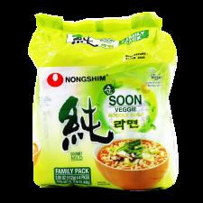 Nongshim Soon Veggie Noodle 3.95oz(112g) 4 Packs, 농심 순라면 3.95oz(112g) 4팩