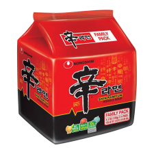 Nongshim Shin Ramyun 4.2oz(120g) 4 Packs, 농심 신라면 4.2oz(120g) 4팩