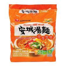 Nongshim Ansung Tang Myun 4.4oz(125g) 4 Packs, 농심 안성탕면 4.4oz(125g) 4팩