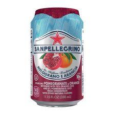 San Pellegrino Sparkling Beverage Pomegranate and Orange 11.15 fl.oz(330ml) , 산펠레그리노 탄산수 석류 오렌지맛 11.15 fl.oz(330ml) , San Pellegrino 蘇打汽水 (石榴橙子味)  11.15 fl.oz(330ml)