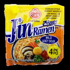 Ottogi Jin Ramen Mild Flavor 4.23oz(120g) 4 Packs, 오뚜기 진라면 순한맛 4.23oz(120g) 4팩, 不倒翁 Jin Ramen Mild Flavor 4.23oz(120g) 4 Packs
