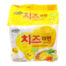 Paldo Cheese Ramyun 3.91oz(111g) 4 Packs, 팔도 치즈라면  3.91oz(111g) 4팩