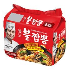 Paldo Bul Jjamppong Noodle Soup 4.90oz(139g) 4 Packs, 팔도 불짬뽕 4.90oz(139g) 4팩, 八道 Bul Jjamppong Noodle Soup 4.90oz(139g) 4包