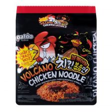 Paldo Volcano Chicken Noodle 4.93oz(140g) 4 Packs, 팔도 볼케이노 치킨볶음면 4.93oz(140g) 4팩