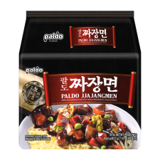 Paldo Jjajangmen 7.16oz(203g) 4 Packs, 팔도 짜장면 7.16oz(203g) 4팩, 八道 Jjajangmen 7.16oz(203g) 4包
