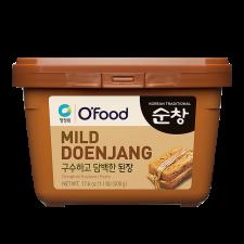 Chung Jung One O'Food Mild Doenjang (Original Soybean Paste) 1.1lb(500g), 청정원 오푸드 순창 구수하고 담백한 된장 1.1lb(500g)