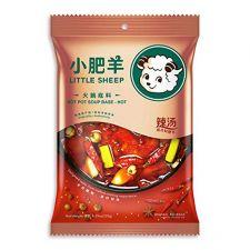 Little Sheep Hot Pot Soup Base Spicy 8.29oz(235g), Little Sheep 핫 팟 육수 매운맛 8.29oz(235g)