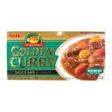 S&B Golden Curry Sauce Mix Medium Hot 7.8oz(220g), 에스엔비 골든카레 소스믹스 중간매운맛 7.8oz(220g), 艾思必 Golden Curry Sauce Mix Medium Hot 7.8oz(220g)
