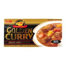 S&B Golden Curry Sauce Mix Hot 7.8oz(220g), 에스엔비 골든카레 소스믹스 매운맛 7.8oz(220g), 艾思必 金牌咖喱塊 辣 7.8oz(220g)