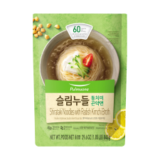 Pulmuone Shirataki Noodles with Radish Kimchi Broth 29.6oz(840g), 풀무원 슬림누들 동치미 곤약면 29.6oz(840g), Pulmuone Shirataki Noodles with Radish Kimchi Broth 29.6oz(840g)