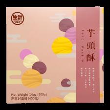 Sheng Kee Taro Pastry Mooncake 16.93oz(2.12oz X 8 Pcs), Sheng Kee 타로 월병 480g(60g X 8개입), 生計 芋頭酥 480g(60g X 8 Pcs)