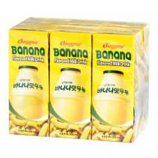 Binggrae Banana Flavored Milk Drink 6.8oz(200ml) 6 Packs, 빙그레 바나나 우유 6.8oz(200ml) 6팩