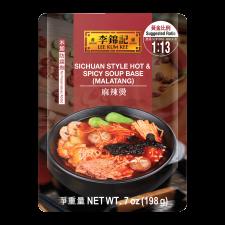 Lee Kum Kee Sichuan Hot&Spicy Soup Base(Malatang) 7oz(198g), 이금기 사천식 마라탕 7oz(198g), 李錦記 麻辣燙 7oz(198g)