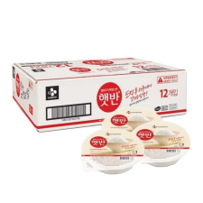 CJ Hetbahn Cooked White Rice Box 7.4oz(210g) 12 Ea, CJ 햇반 박스 7.4oz(210g) 12개입, CJ Hetbahn Cooked White Rice Box 7.4oz(210g) 12 Ea