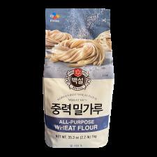 Beksul All Purpose Wheat Flour 2.2lb(1kg), 백설 중력 밀가루 2.2lb(1kg)