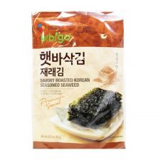 CJ BIbigo Crispy Toasted Seaweed 0.71oz(20g) 4 Packs, CJ 비비고 햇바삭김 재래김 0.71oz(20g) 4팩