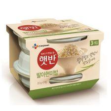 CJ Hetbahn Cooked Sprouted Brown Rice 7.4oz(210g) 3 Ea, CJ 햇반 발아현미밥 7.4oz(210g) 3개입, CJ Hetbahn Cooked Sprouted Brown Rice 7.4oz(210g) 3 Ea