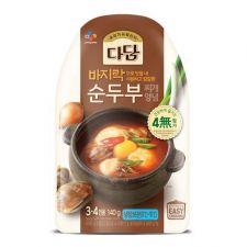 Beksul Dadam Seasoning Mix for Beancurd 4.93oz(140g), 백설 다담 바지락 순두부찌개 양념 4.93oz(140g)