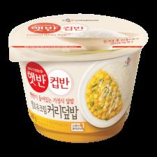 CJ Cooked White Rice with Yellow Cream Curry 9.8oz(280g), CJ 햇반 컵반 옐로우크림커리덮밥 9.8oz(280g)