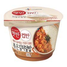CJ Cooked White Rice with Stir-Fried Kimchi 8.65oz(247g), CJ 햇반 컵반 볶은김치덮밥 8.65oz(247g)