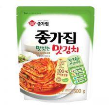 Chongga Cut Cabbage Kimchi (Mat Kimchi) 17.6oz(500g), 종가집 종가집 맛김치 17.6oz(500g)