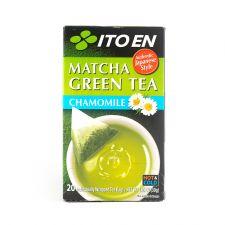 ITO EN Matcha Green Tea Chamomile Tea Bags 0.05oz(1.5g) 20 Tea Bags, 이토엔 말차 그린티 카모마일 0.05oz(1.5g) 20 티백