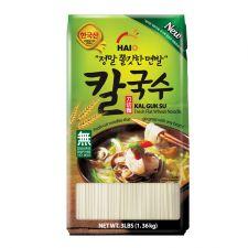 HAIO Fresh Flat Wheat Noodle Kalguksu 3lb(1.36kg), HAIO 칼국수 3lb(1.36kg)